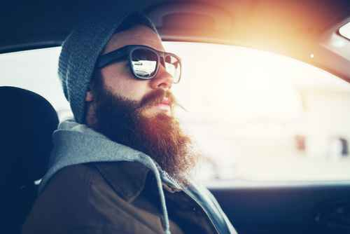 hipster, homme barbe